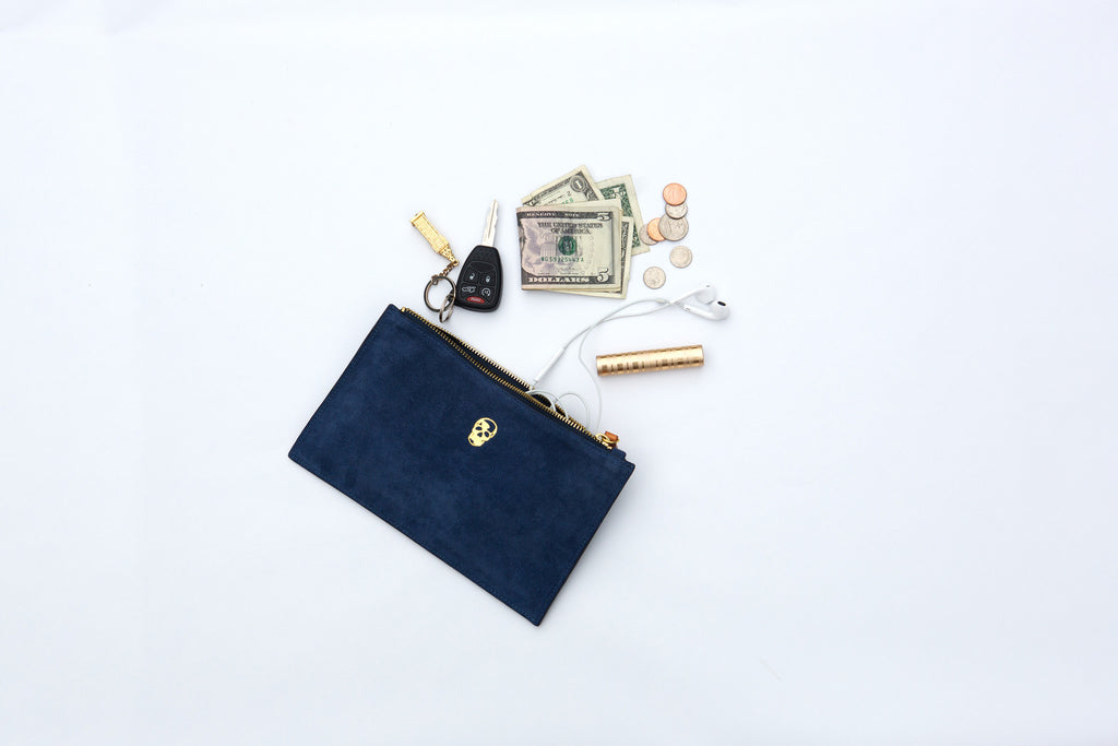 Suede Pouch w/ Monogramming