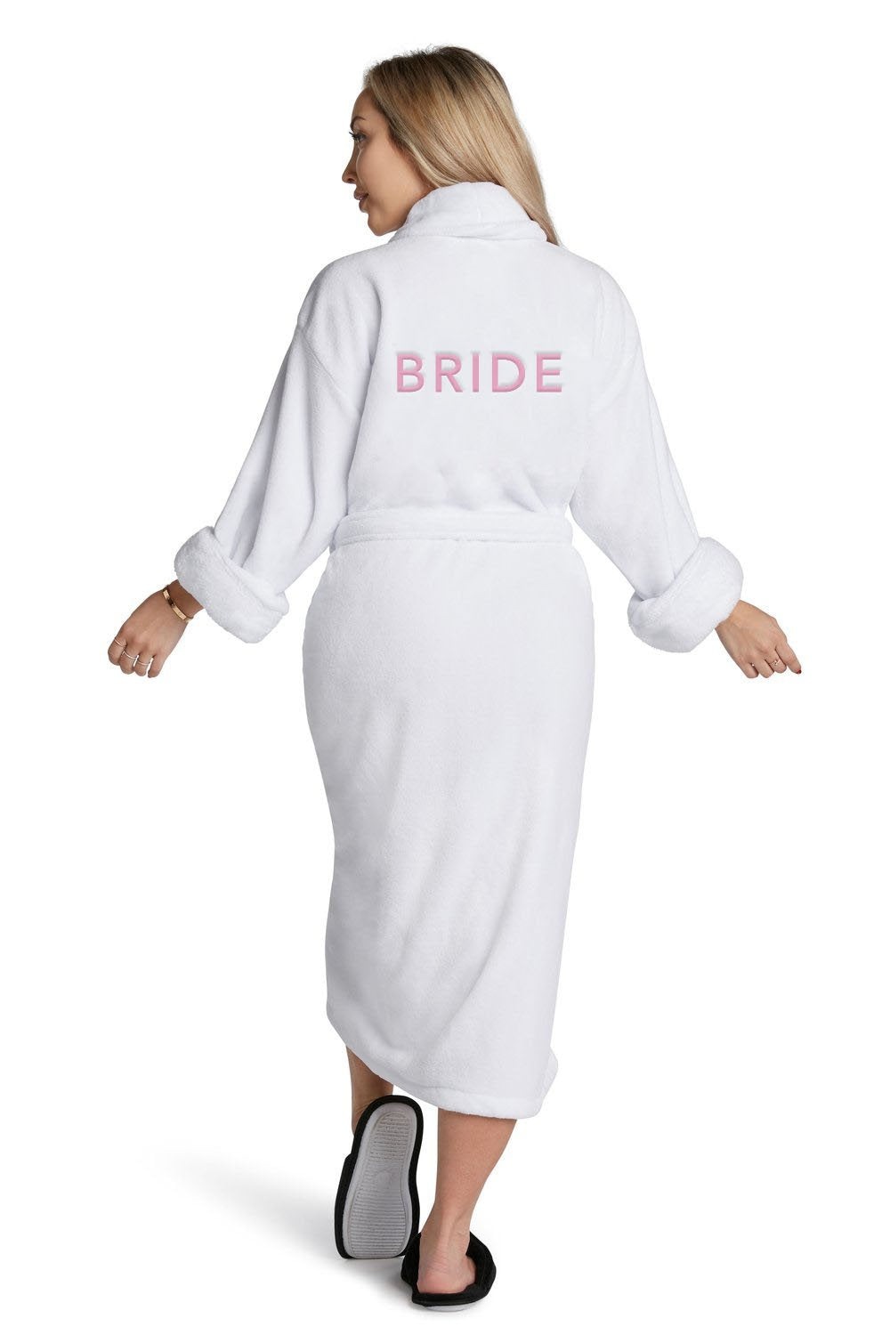 LA Trading Co White Plush Robe Bride