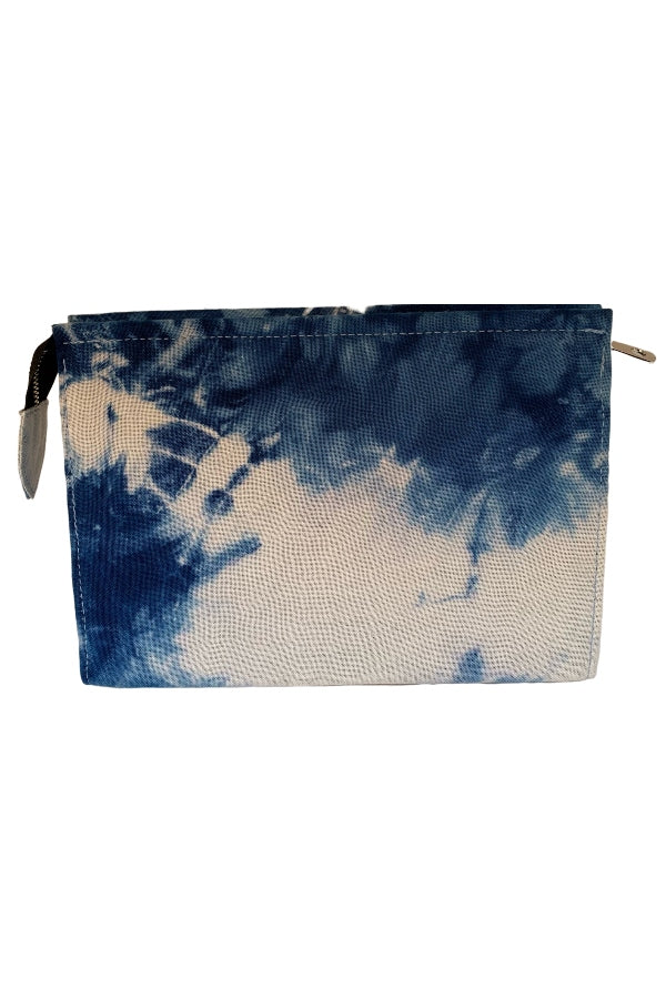 Rachel Cagner Tie Dye Clutch Royal Blue