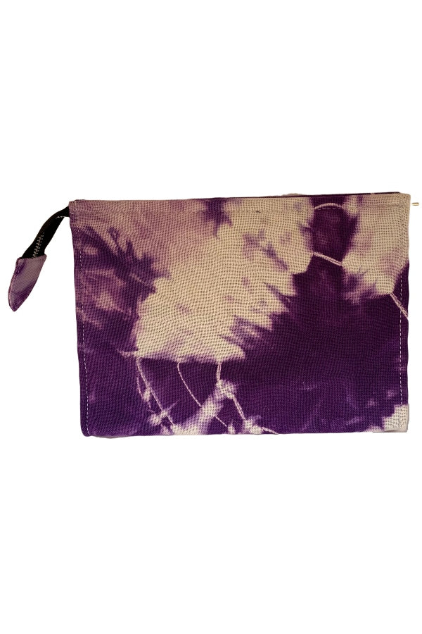 Rachel Cagner Tie Dye Clutch Purple