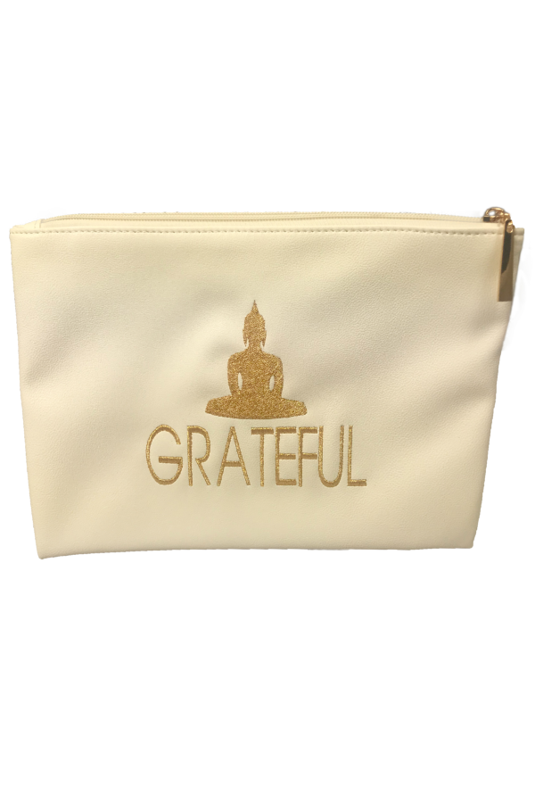 White 'Grateful' Pouch