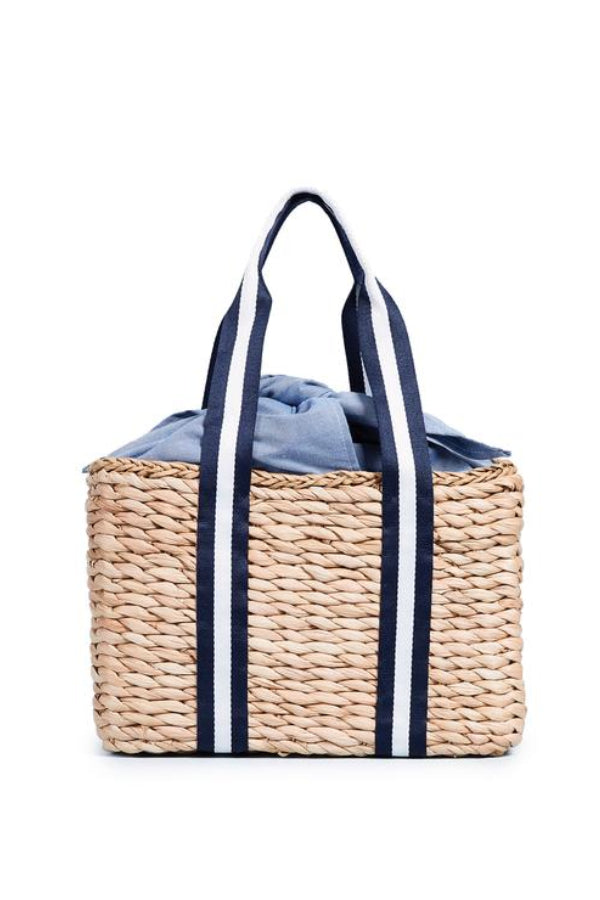 Riviera Straw Beach Bag