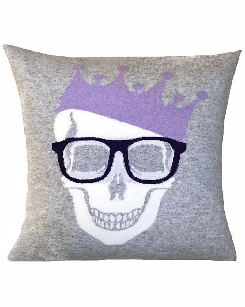 Rani Arabella Cashmere Skull Crown Pillow (Various Colors)