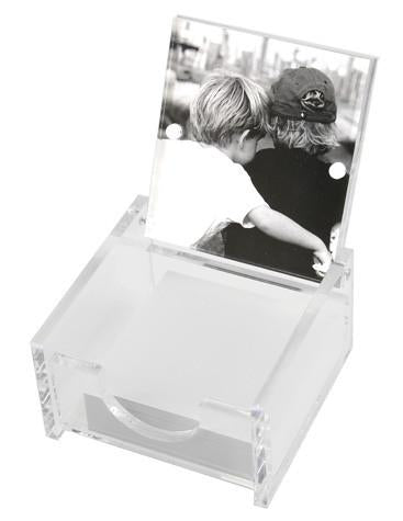 Lucite Photo Post-it Holder