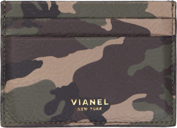 Camouflage Leather Cardholder