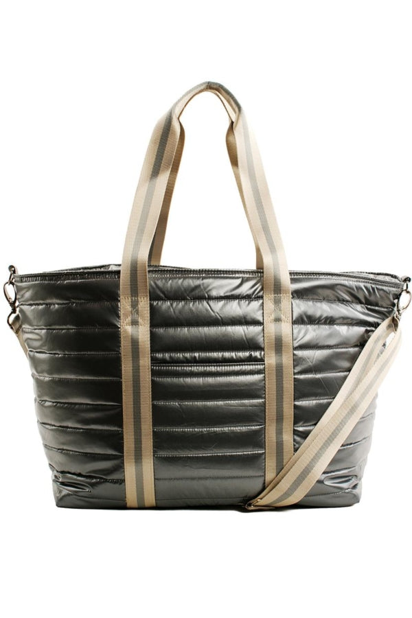 Think Royln Wingman Pearl Grey Nylon Tote
