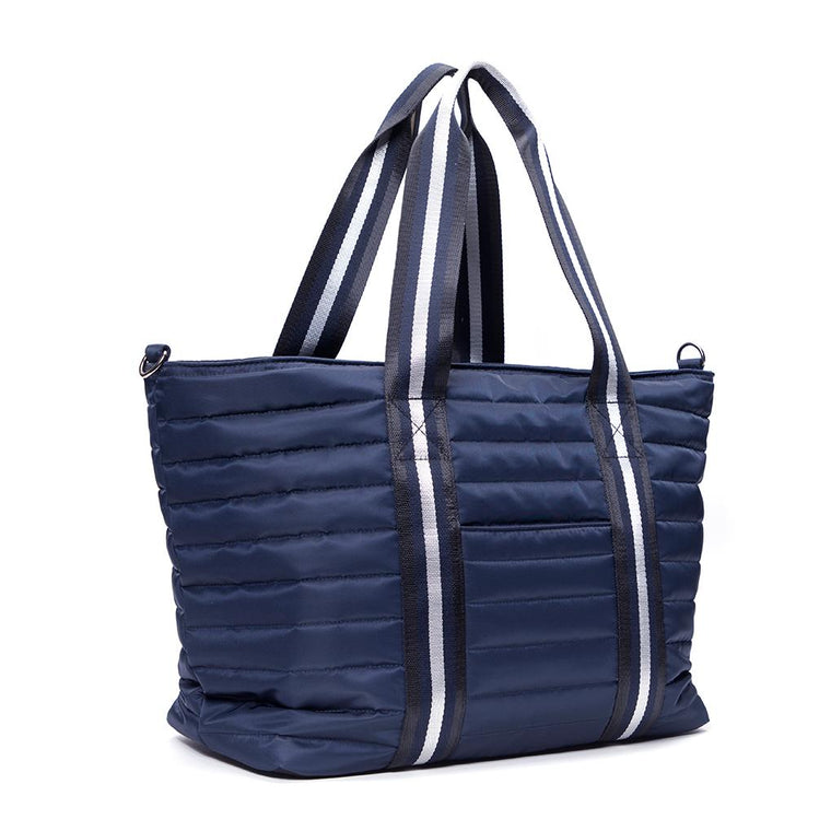 Think Royln Wingman Navy Nylon Tote
