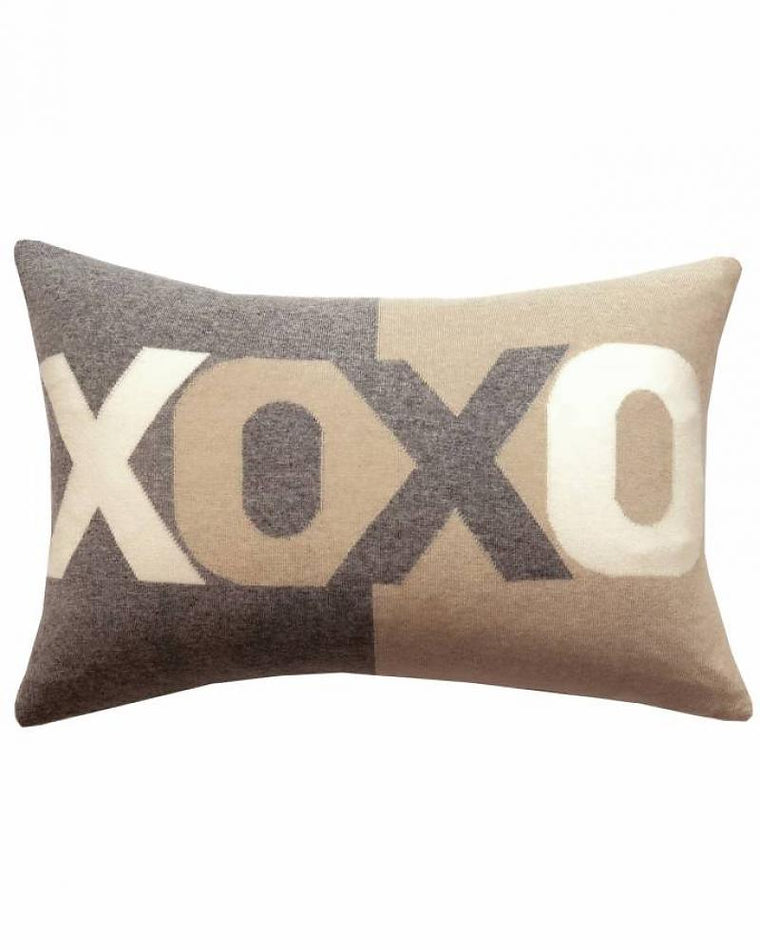 Pillow Cashmere XOXO Gray/Sand/Ivory