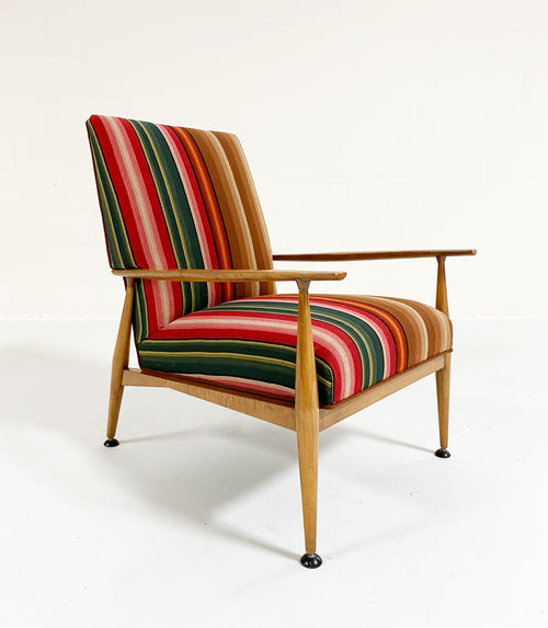 Model 3041 Lounge Chair in vintage Guatemalan Fabric