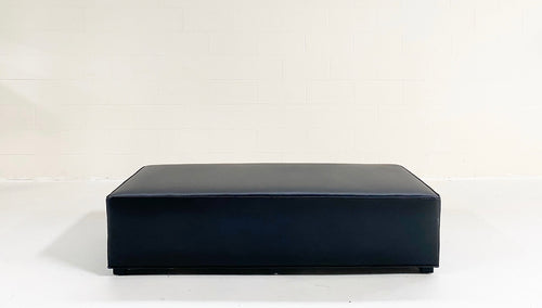 The Forsyth Large Ottoman in Leather