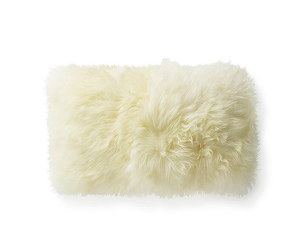 "Brazilian Sheepskin Pillow, 21x13"" - FORSYTH"