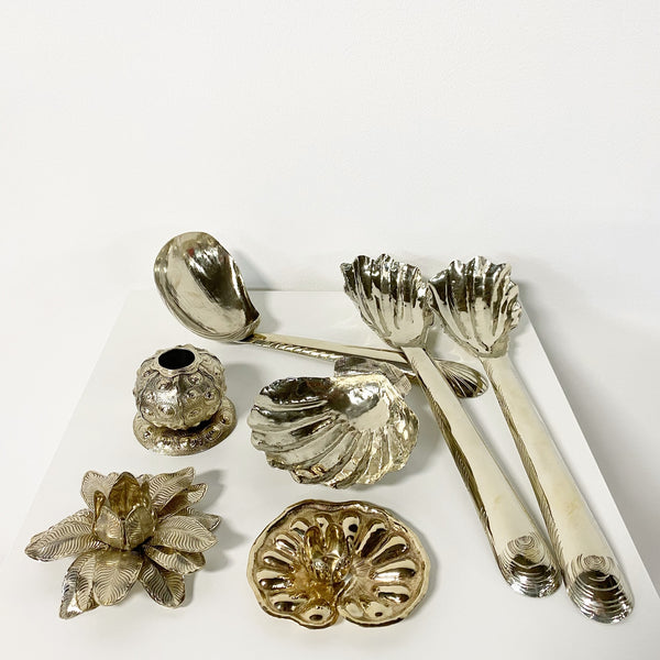 Oyster Shell Serving Set.