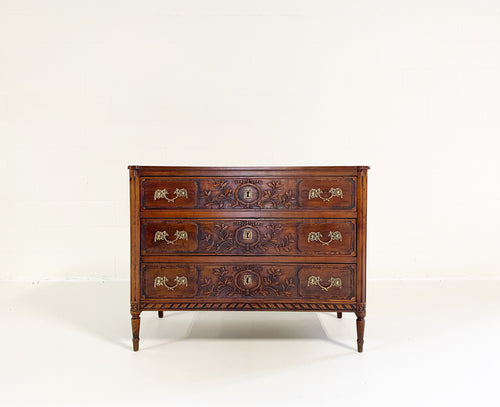 18th Century Continental Neoclassical Walnut Commode