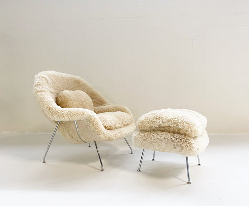 Bespoke Womb Chair and Ottoman in California Sheepskin - FORSYTH