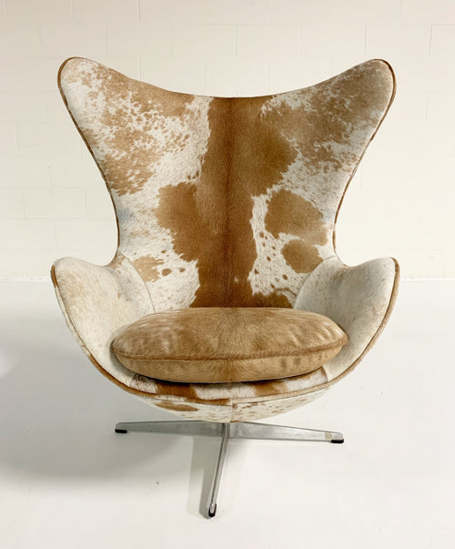 Egg Chairs in Brazilian Cowhide, pair - FORSYTH