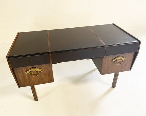 Leather Top and Walnut Desk - FORSYTH