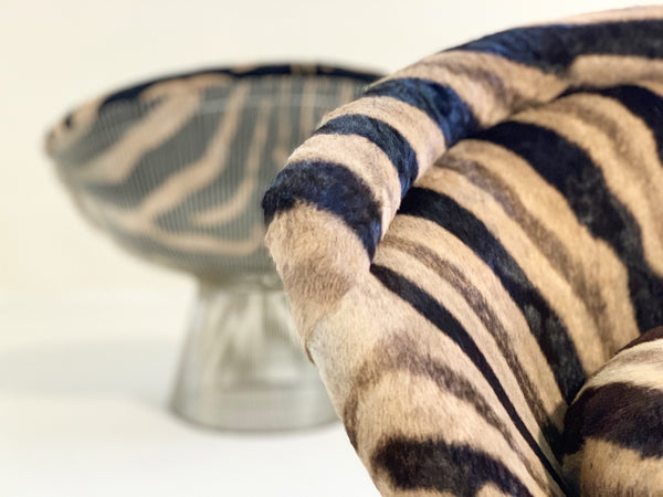 Lounge Chairs in Zebra Hide, pair - FORSYTH