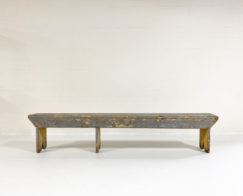 8 Foot Long Farmhouse Bench