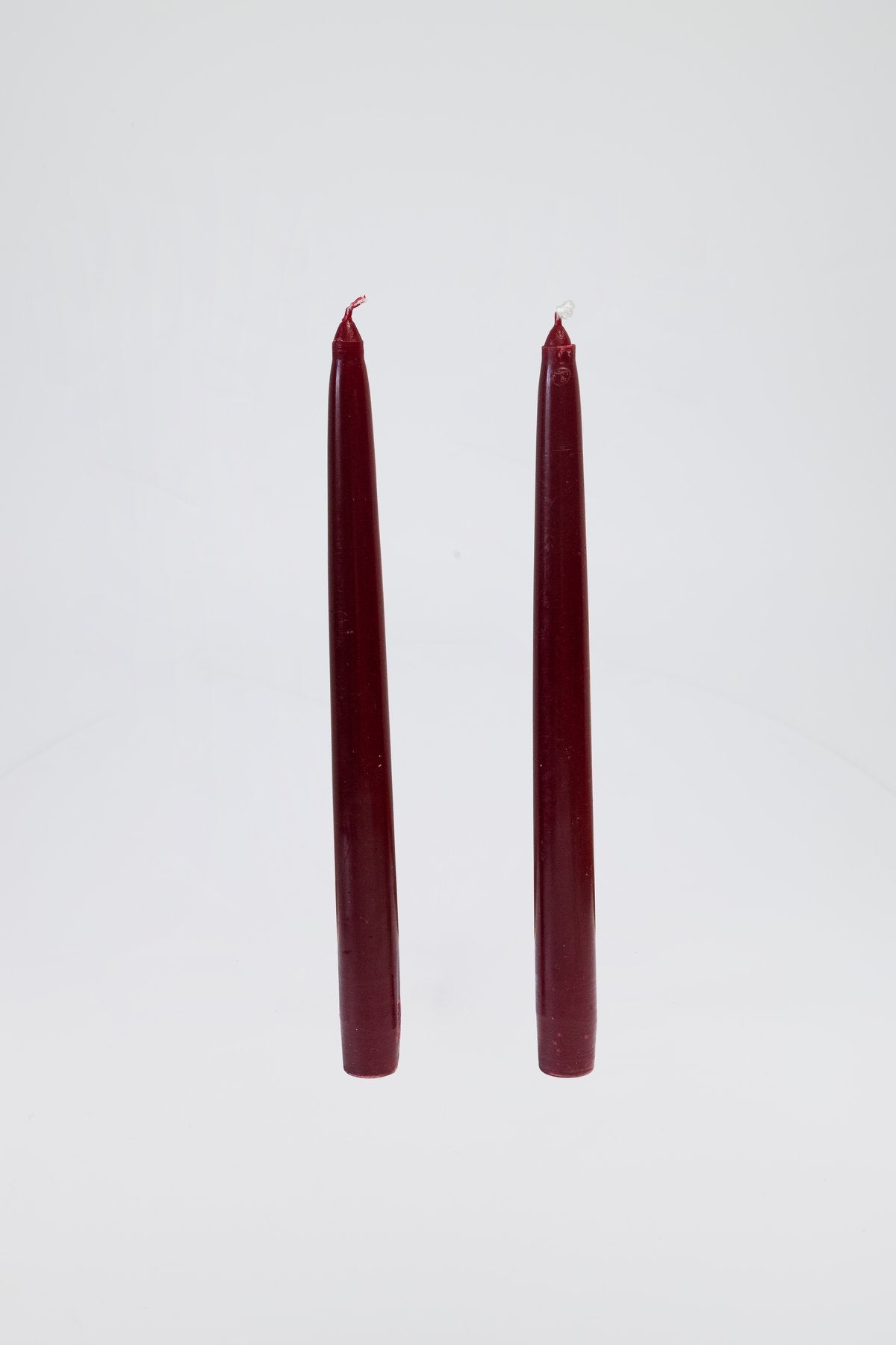 Dinner Candles, Burgundy, Pair
