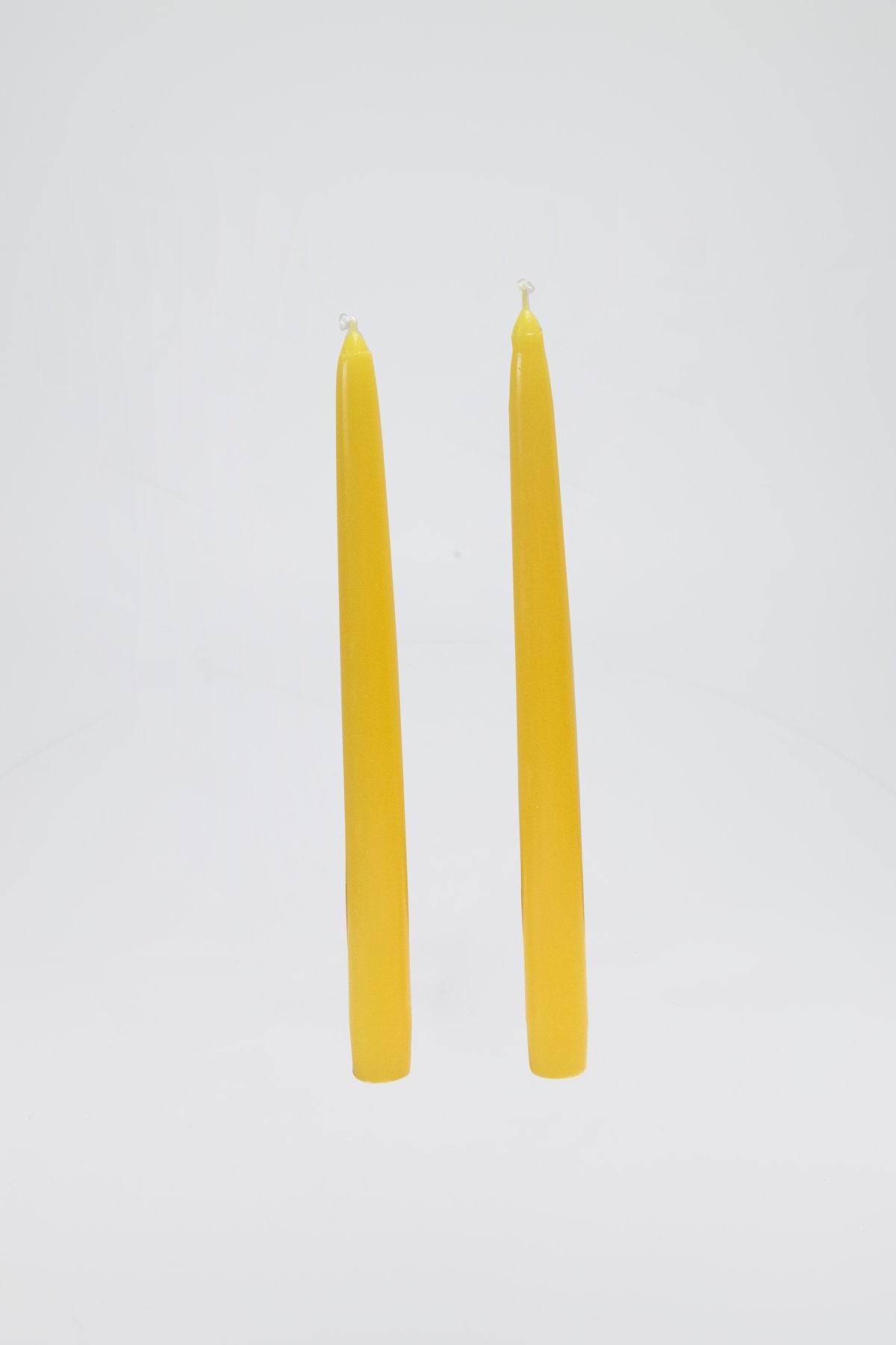 Dinner Candles, Sun Yellow, Pair