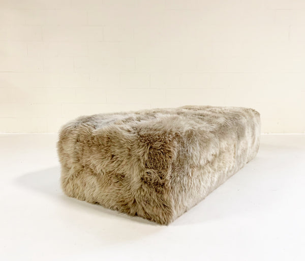 The Forsyth Large Ottoman in Sheepskin - FORSYTH