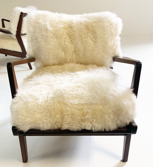 Lounge Chairs with Sheepskin Cushions - FORSYTH
