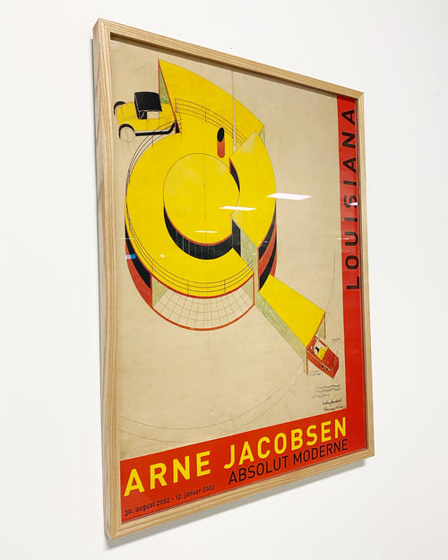 Arne Jacobsen Framed Exhibition Poster