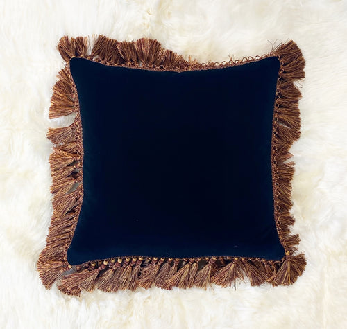 Black Velvet Pillow, 20""