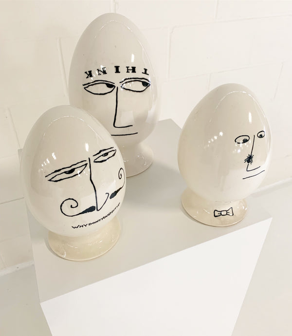 Set of 3 Eggheads - FORSYTH