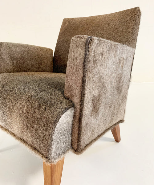 Armchair in Brazilian Cowhide - FORSYTH