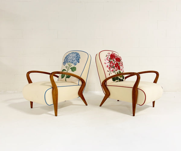 Italian Oakwood Chairs, pair - FORSYTH