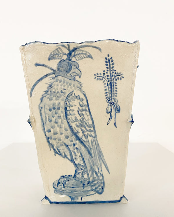 Blind Trust Hooded Falcon Vase.