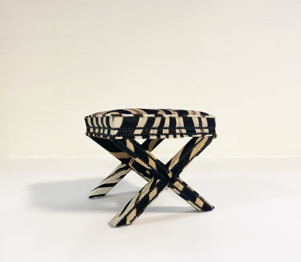 X Bench in Zebra Hide - FORSYTH