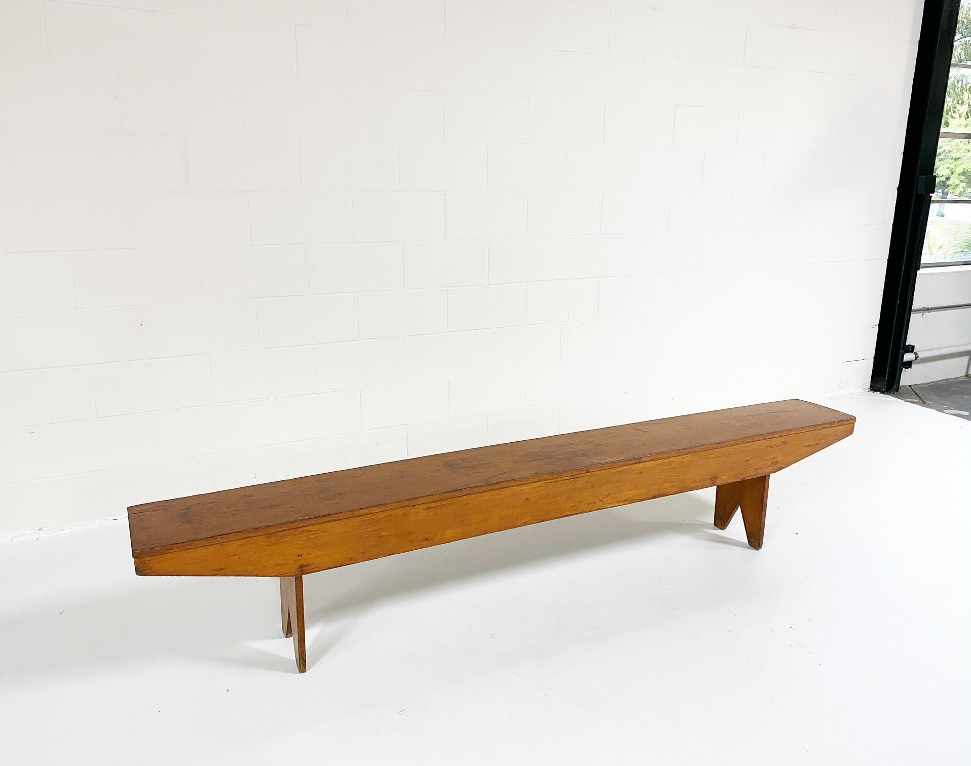 8 Foot Long Primitive Farmhouse Bench