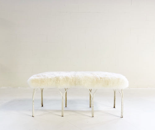 Bench in Brazilian Sheepskin - FORSYTH