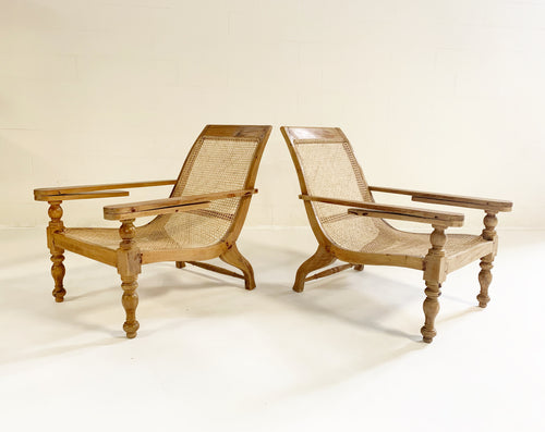 British Colonial Plantation Chairs, pair - FORSYTH
