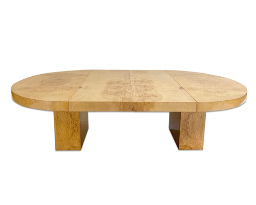 Burl Wood Oval Dining Table - FORSYTH