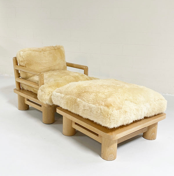 Dowelwood Lounge Chair and Ottoman