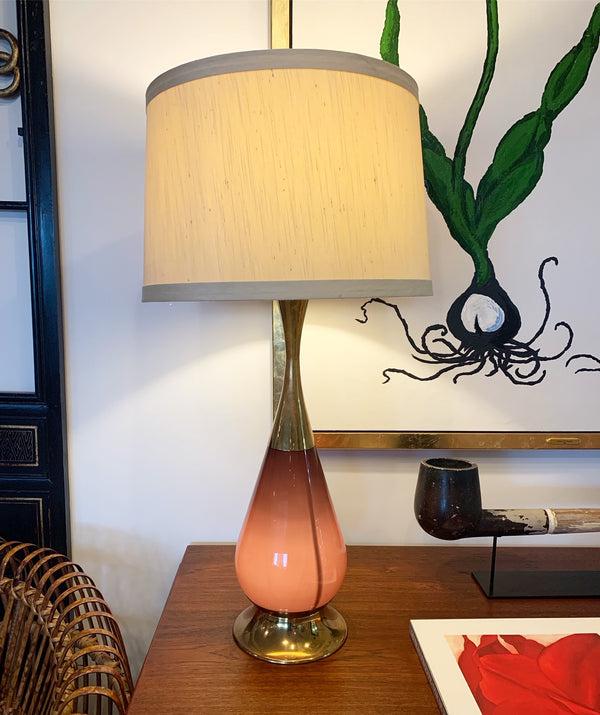 Purple Glass Table Lamp - FORSYTH
