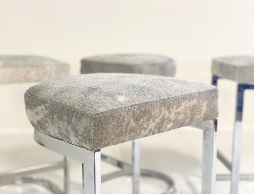Bar Stools in Brazilian Cowhide, set of 4 - FORSYTH