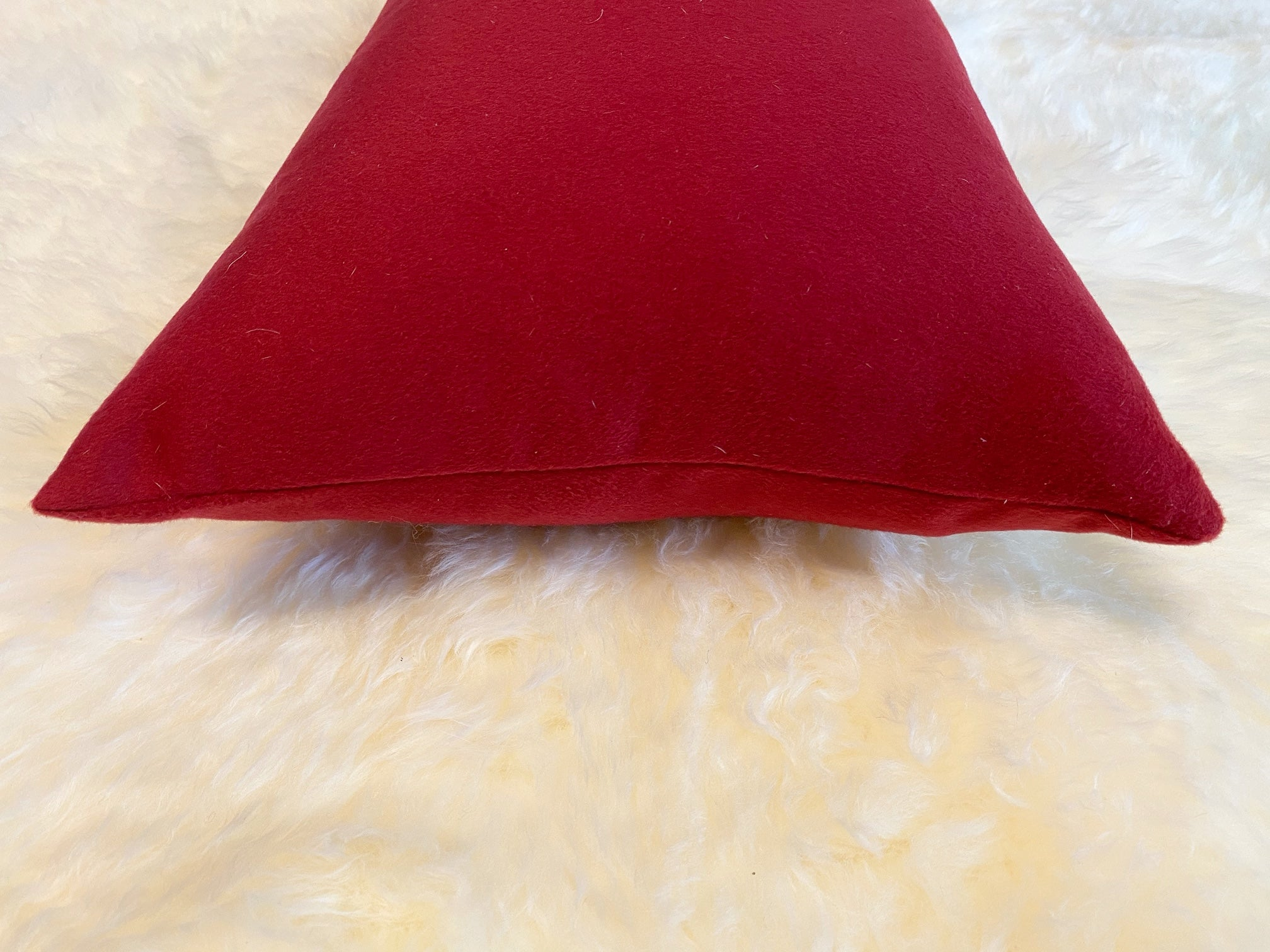 Loro Piana Red Cashmere Pillow, 21""