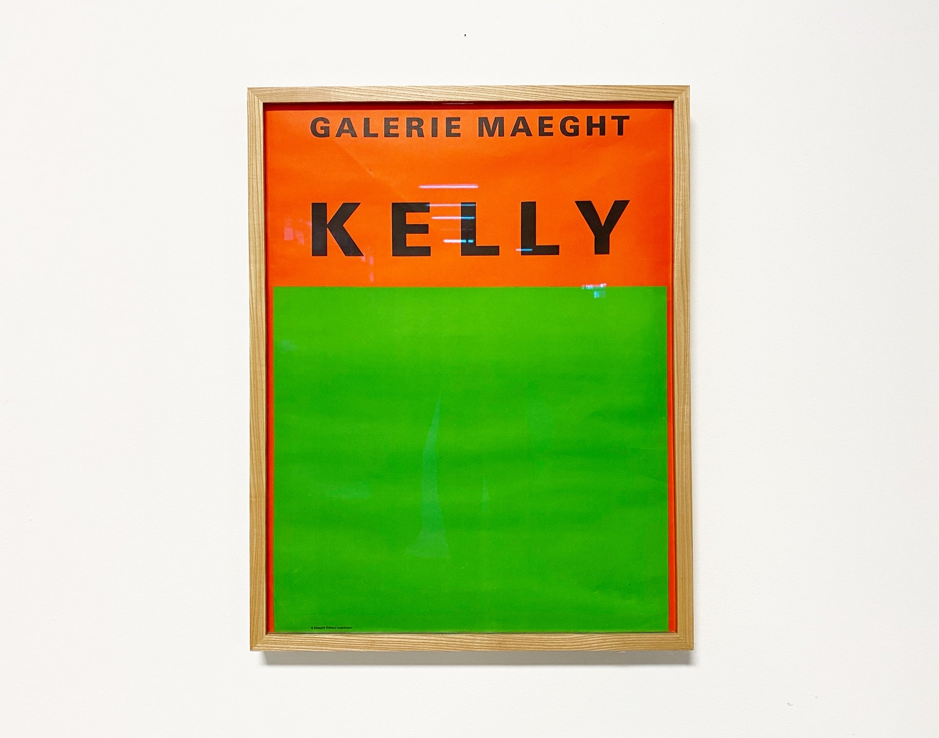 Ellsworth Kelly Framed Exhibition Poster