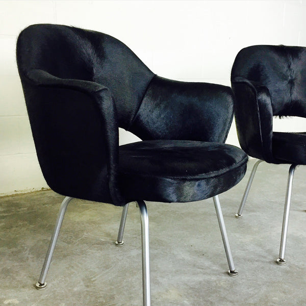 Executive Armchairs in Brazilian Cowhide, pair - FORSYTH