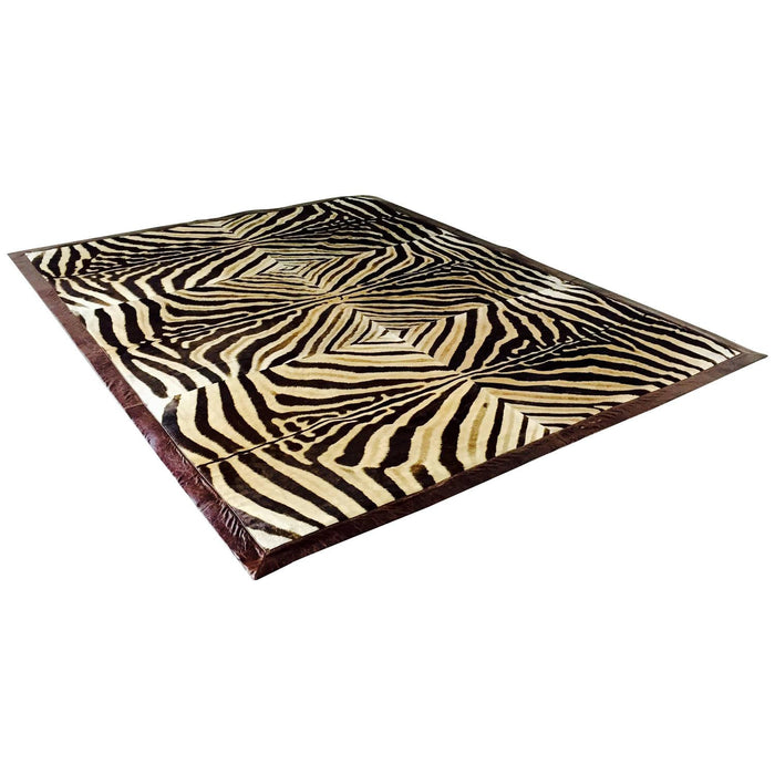 ONE OF A KIND ZEBRA AREA RUG - King George