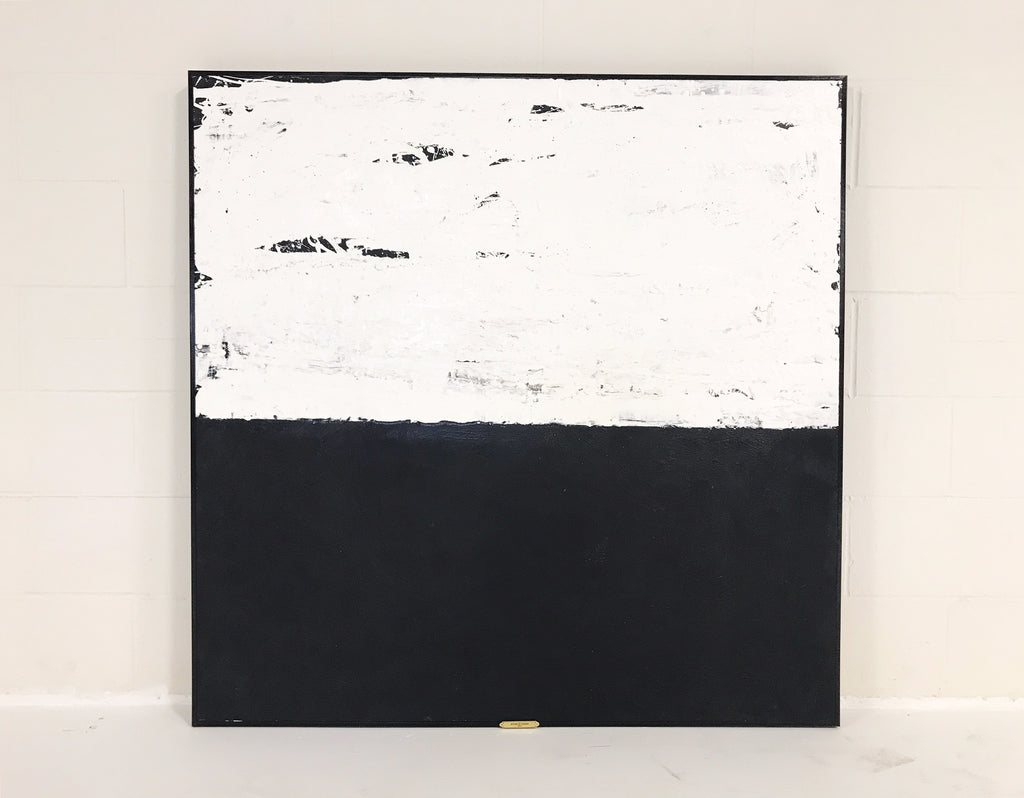 "John O'Hara. White and Black IIII. 49x49"" - FORSYTH"
