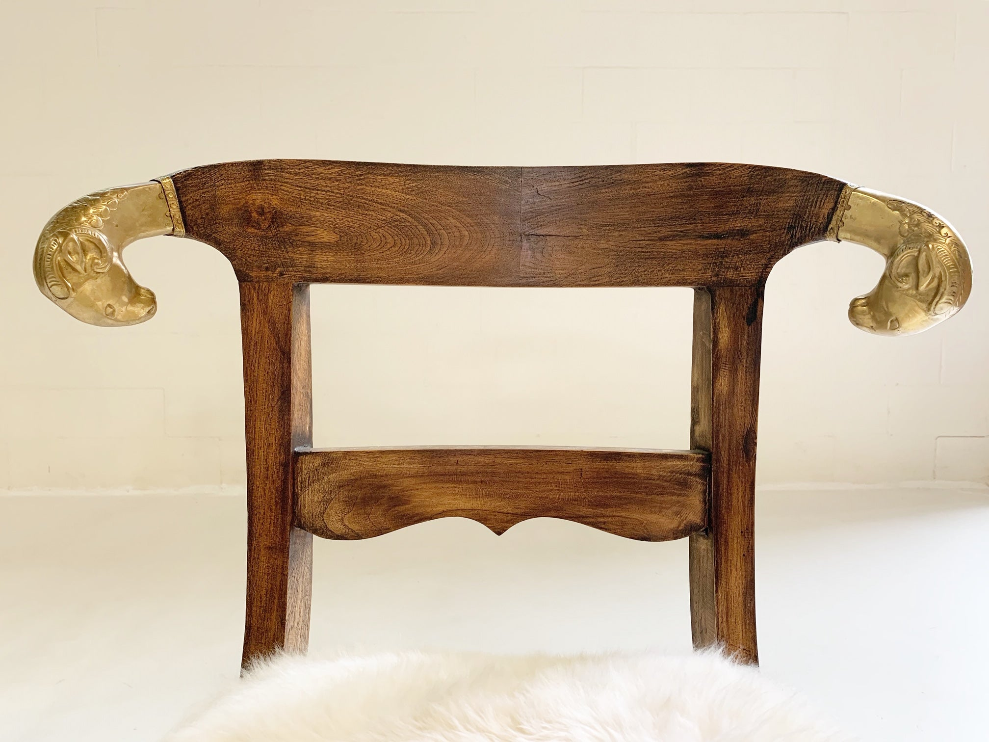French Side Chairs in Brazilian Sheepskin, pair - FORSYTH