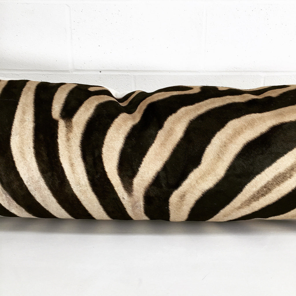 Luxury King Zebra Hide Pillow - FORSYTH