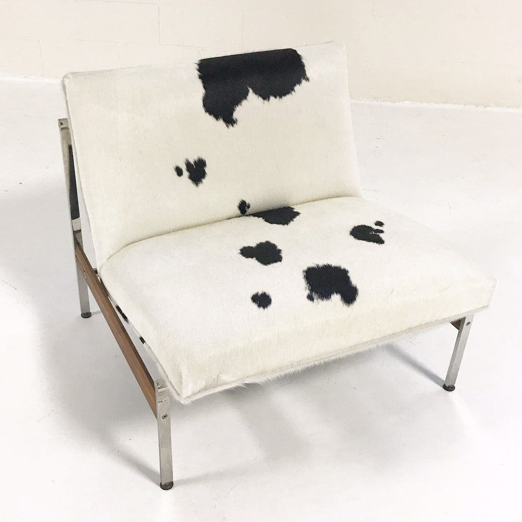 Vintage Glenn of California Lounge Chair Reupholstered in Brazilian Cowhide - FORSYTH