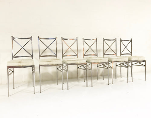 Midcentury Swedish Steel Dining Chairs, set of 8 - FORSYTH