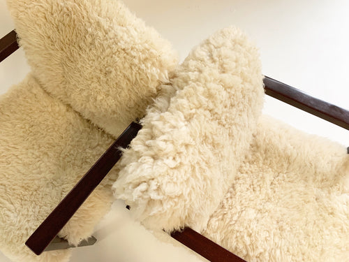 Model 406 Chairs in California Sheepskin, pair - FORSYTH